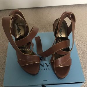 NEW Lanvin sandals, never worn, with box